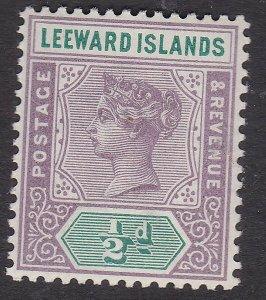 LEEWARD ISLANDS^^^^1890 sc#1  MNH   VICTORIA  CLASSIC  $$@lar1282lee