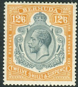 BERMUDA-1932 12/6 Grey & Orange.  A mounted mint example Sg 93