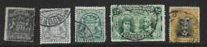 Rhodesia Used Lot of 5 Different stamps 2017 CV $15.00