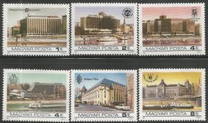 HUNGARY 2863-2868  MNH,  BUDAPEST RIVERSIDE HOTELS