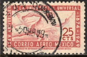 MEXICO C203, 25c 75th Ann of Universal Postal Union. Used. F-VF. (896)