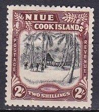 Niue 1938 Scott 74 Village Scene MH