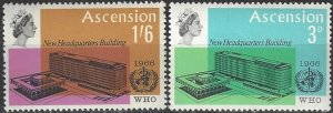Ascension  102-3  MNH  UN WHO Headquarters Building 1966