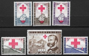 1959 Belgium B641-6 International Red Cross Centennial C/S MH