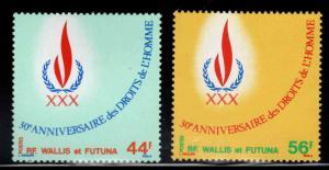 Wallis and Futuna Islands Scott 221-222 MNH** Human Rights set