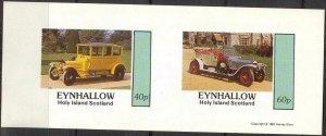 {E127} Eynhallow Scotland Classic Cars (3) Sh.2 Imperf. MNH Cinderella !!