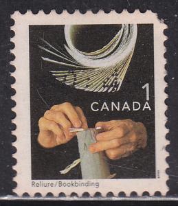 Canada 1673 Hinged 1999 Bookbinding 1¢