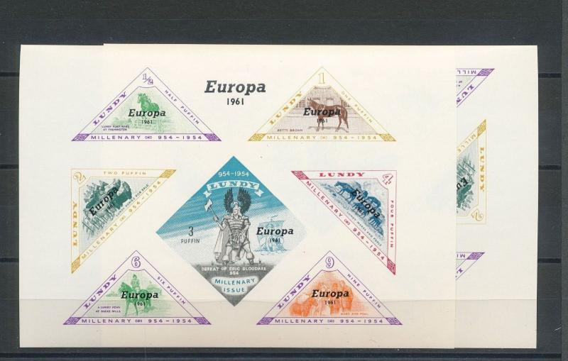 Lundy MNH S/S Europa Horses 1961