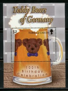 TURKS & CAICOS  100th BIRTHDAY OF TEDDY  BEARS OF GERMANY SHEET & S/S   MINT NH