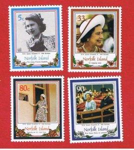 Norfolk Island #385-388  MNH OG  Elizabeth ll  Free S/H