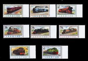 Lesotho 1993 Vintage Locomotives of Africa 8 Stamp Set 12E-012