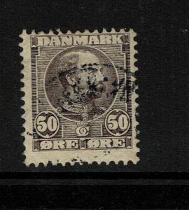Denmark SC# 68, Used, partial gum, very shallow center thin - S5290