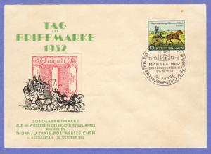 GER SC #692 (Mi 160) 1952 Thurn and Taxis FDC 10-25-1952