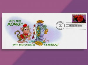 Bad Monkey!! You broke the Clock! Year of the Monkey FDC w Bennett Cachet & DCP