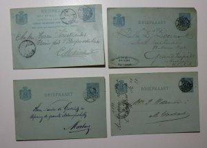 Netherlands Postcard postal card Lot 3 Rotterdam Amsterdam 1880s used