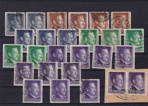 Germany Third Reich 1940s world war 2 used stamps ref R20021