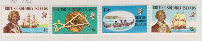 British Solomon Islands Sc#228-231 MH