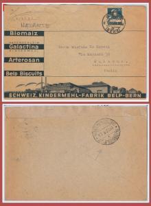 SVIZZERA -- BUSTA con annullo NATANTE ITALIANO al verso: NAPOLI - PALERMO 1933