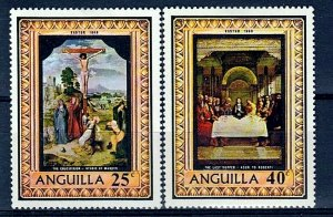 ANGUILLA - 1969 - EASTER- CRUCIFIXION - LAST SUPPER - PAINTINGS - MINT NH SET!