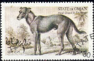 Feral Dog of St. Domingo, Oman stamp used