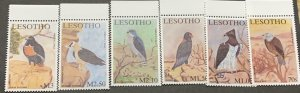 O) 2001 LESOTHO, BIRDS OF PREY, BLACK KITE, MARTIAL EAGLE BATELEUR, GOSHAWK, VUL