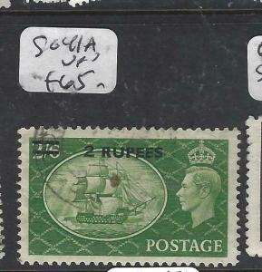 BRITISH PO EASTERN ARABIA, MUSCAT  (P1905B)  ON GB KGVI 2R/2/6 SG 41A  VFU
