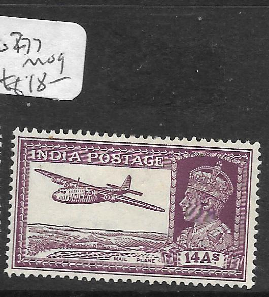 INDIA (PP2609B) KGVI 14A  AIRPLANE  SG277  MOG