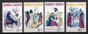 Samoa MH 442-5 Christmas 1976