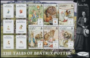 Solomon Islands 1089a MNH Animals, Tales of Beatrix Potter, Owl