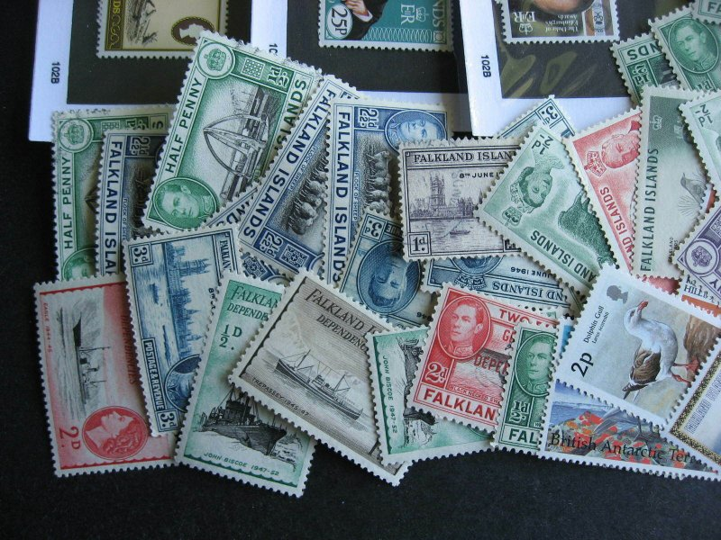 Falkland Islands gambler mixture (duplicates,mixed condition) of 69