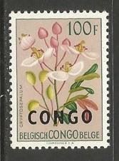 CONGO 340 MNH FLOWERS A169