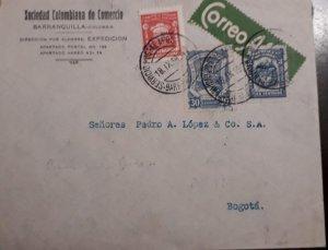 O) 1930 CIRCA - COLOMBIA, SCADTA - PLANE OVER MAGDALENA RIVER - SC C42, ORNATE