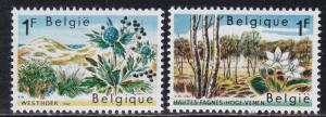 Belgium MNH 683-4 Nature Reserves Flowers
