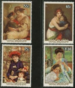 COOK ISLANDS Sc#866-870 1985 International Youth Year CPL Set & SS OG Mint NH