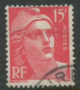 France - Scott 614 - General Issue -1949 - Perf 14 X 13 - Used - 15fr Stamp