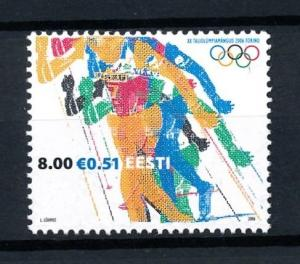 [92403] Estonia 2006 Olympic Games Turin Torino Cross Country Skiing  MNH