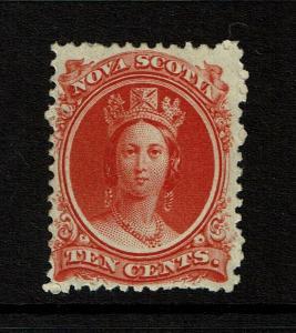 Nova Scotia SC# 12 Mint Never Hinged / Very Light Back Ink Rem - S8325