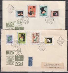 Hungary, Scott cat. 1556-1561, B235-B236. New Years issue. First day cover. ^