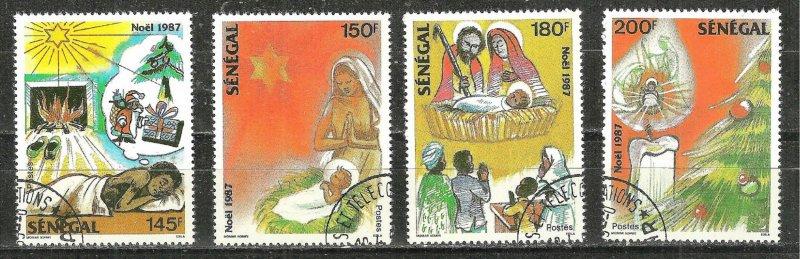 SENEGAL. 1987 NOEL - CHRISTMAS  #757-760  WYSIWYG Lot