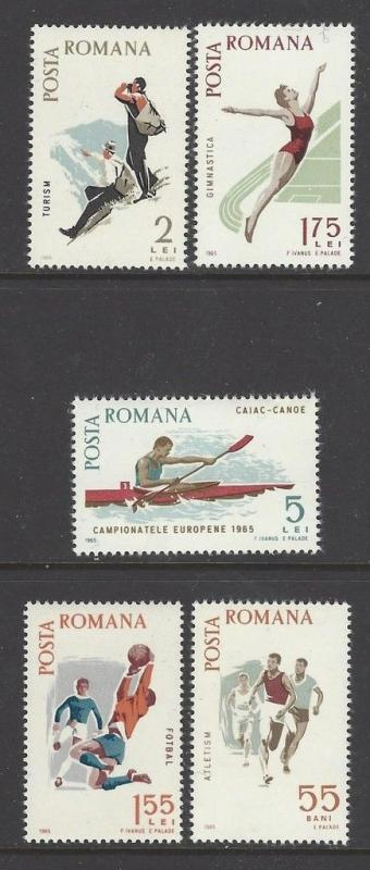 Romania 1965 Sports Spartacist Games VF MNH (1789-93)