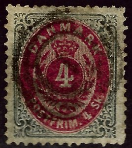 Denmark SC#18 Used F-VF...steal the deal!!