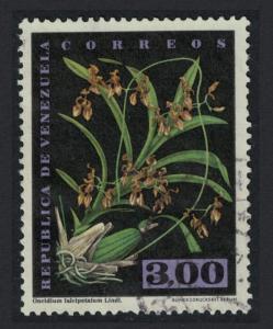 Venezuela Orchid 'Oncidium falcipetalum Lindl 3B KEY VALUE 1962 Canc SC#811