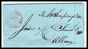 GOLDPATH: US STAMPLESS COVER 1827, GRANVILLE, N.Y.   W/LETTER    _CV58_P12