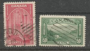 Canada Scott #241, 244 used