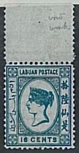 Straits Settlements MALAYA Labuan - Stanley Gibbons # 10 w MLH - BEAUTIFULL !