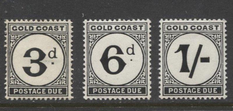 STAMP STATION PERTH Gold Coast #J6-J8 MNH/ MH 1951-52