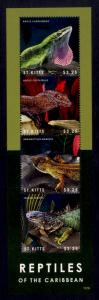 St. Kitts Sc# 863 MNH Reptiles of the Carribbean (M/S)