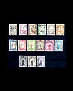 VINTAGE:AZORES-PORTUGAL 1895 USD  SCOTT #78-92 $858 LOT #1868X312Z