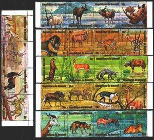 Burundi. 1975. 1173-96. Fauna of Africa. USED.