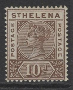 ST.HELENA SG52 1896 10d BROWN MTD MINT